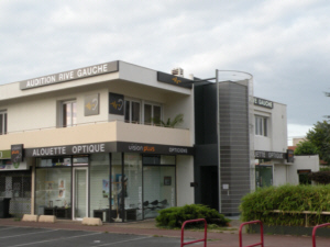 Photo de la vitrine du centre de Pessac